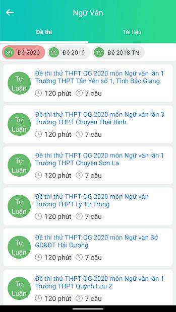 Screenshots Luyện Thi THPT Quốc Gia 2020 - Ôn thi Offline
