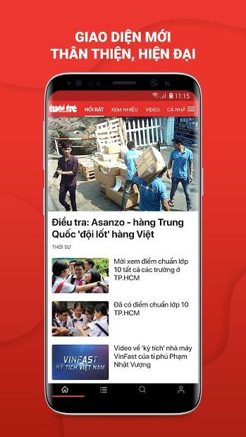 Screenshots Báo Tuổi trẻ - Tuoitre.vn: Cập nhật tin tức nóng hổi, mới nhất 24/7