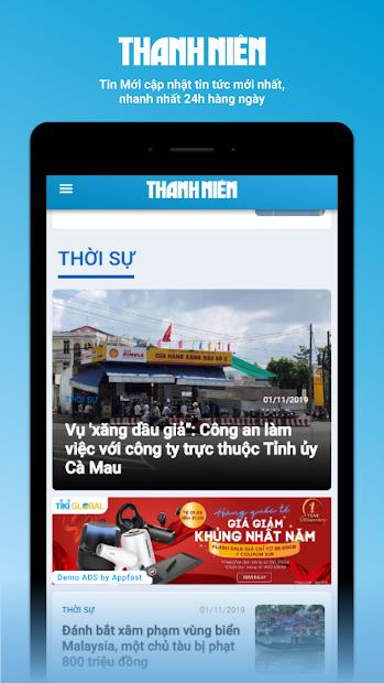 Screenshots Báo Thanh niên: Cập nhật tin tức nóng hổi, mới nhất 24/7