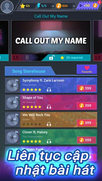 Screenshots Tap Tap Music - Trò chơi âm nhạc với các ca khúc nhạc Pop
