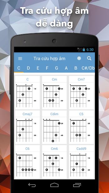 Screenshots Hợp Âm Chuẩn - Ứng dụng tra cứu hợp âm Guitar, Ukulele và Piano