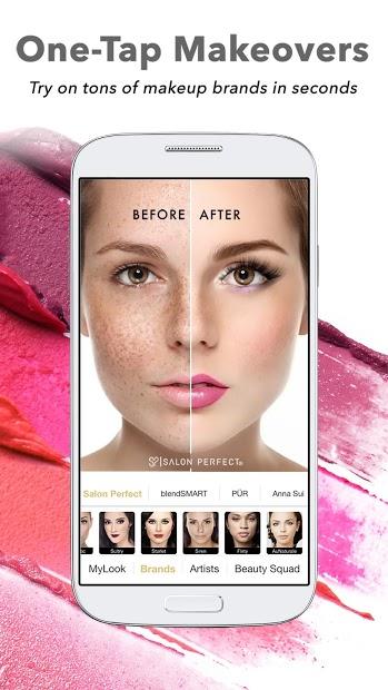 Screenshots Perfect365: One-Tap Makeover- Trang điểm nhanh chóng chỉ với 1 lần chạm