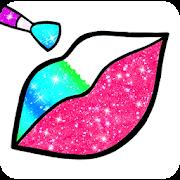 Rainbow Lips Coloring Book Glitter - Beauty Game - Sách vẽ và tô màu lấp lánh