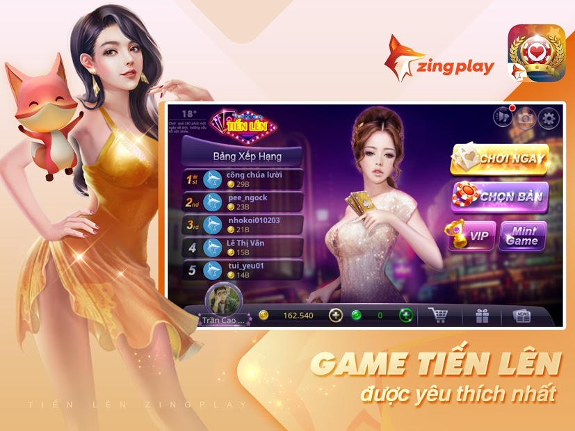 Screenshots Tiến Lên Miền Nam - Game đánh bài tiến lên online của ZingPlay