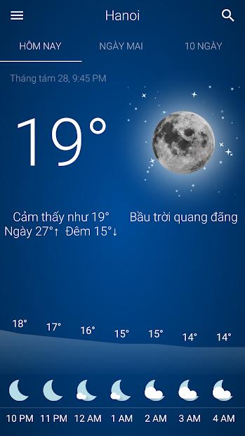 Screenshots Thời tiết Việt Nam - Ứng dụng dự báo thời tiết