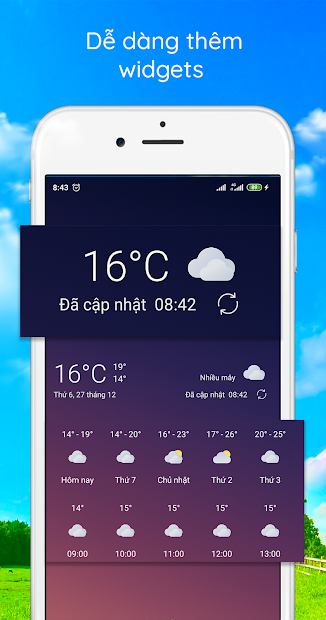 Screenshots WeatherLike: Dự báo thời tiết nắng mưa trong 7 ngày