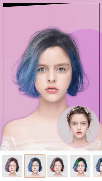 Screenshots Ứng dụng Thử Kiểu tóc Mới: Tạo mẫu tóc theo sở thích