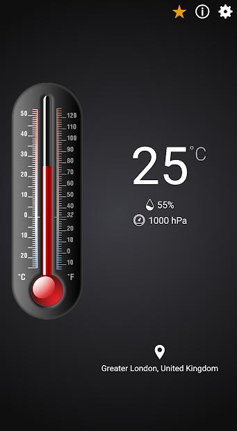 Screenshots Nhiệt kế: Đo nhiệt độ trong nhà, ngoài trời bằng điện thoại