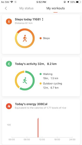 Screenshots Mi Fit - Kết nối Mi Band với điện thoại, kiểm tra theo dõi sức khỏe