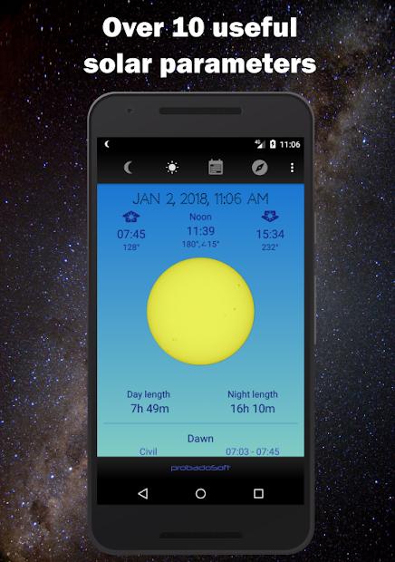 Screenshots Moon Phase Calendar - Giờ mọc và lặn của mặt trăng và mặt trời