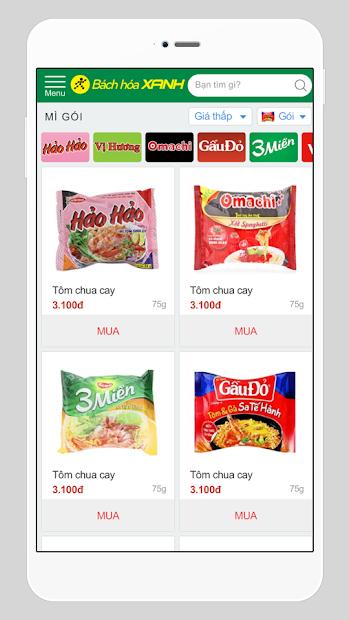 Screenshots Bách Hoá Xanh: Mua hàng thực phẩm, nhu yếu phẩm online