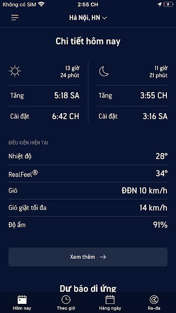 Screenshots AccuWeather - Dự báo thời tiết