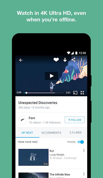 Screenshots Vimeo- Mạng xã hội video miễn phí