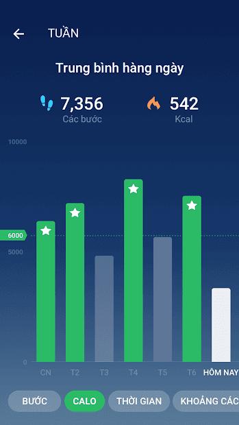 Screenshots Bộ đếm bước - Ứng dụng tính bước chân, calo