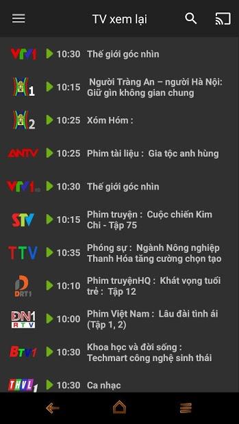 Screenshots MyTV Net cho Smartphone, Tablet và Smart Tivi