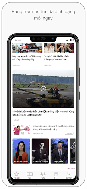 Screenshots VTC NOW: Ứng dụng xem truyền hình và đọc tin tức miễn phí hằng ngày