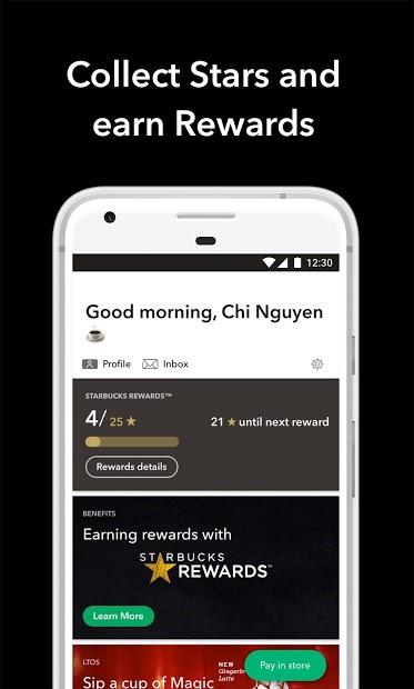 Screenshots Starbucks Việt Nam: Đặt đồ uống Starbucks, nhiều khuyến mãi hấp dẫn