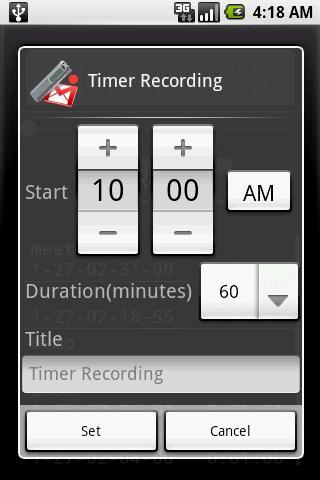 Screenshots Voice Recorder - Ứng dụng ghi âm trên thiết bị di động