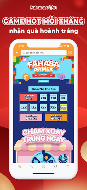 Screenshots Fahasa - Thế giới trong tầm tay