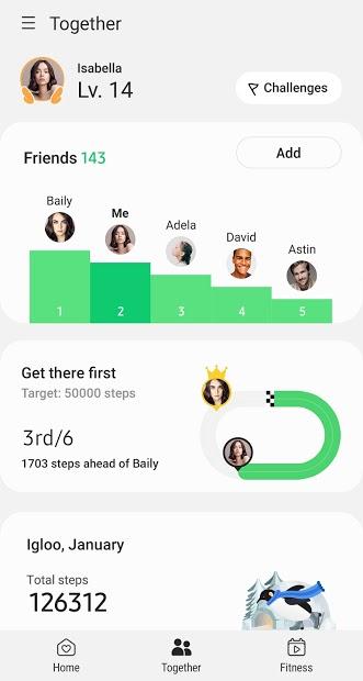 Screenshots SAMSUNG HEALTH: Ứng dụng theo dõi sức khỏe của Samsung