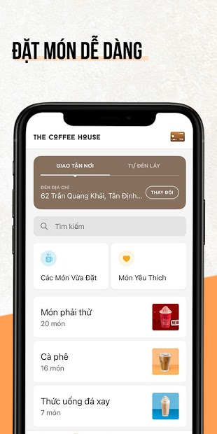 Screenshots The Coffee House - Đặt đồ uống Coffee House, nhiều ưu đãi khuyến mãi
