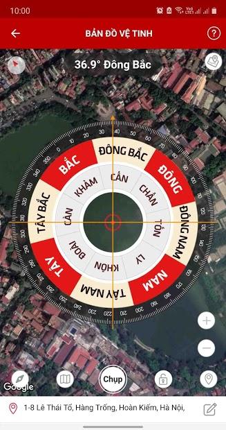Screenshots La ban Phong thuy - Compass: Xem phong thủy qua la bàn