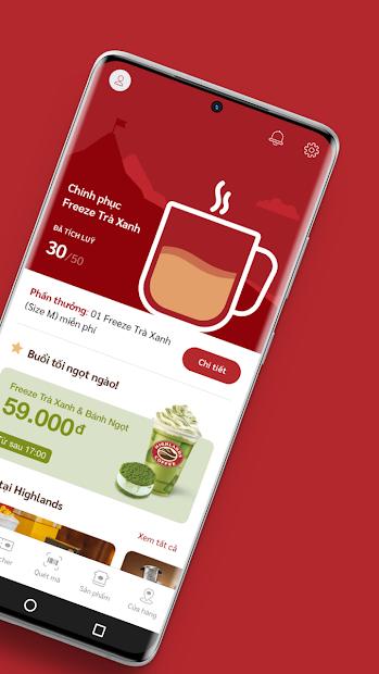 Screenshots Highlands Coffee - Đặt Highlands coffee tại nhà, nhiều ưu đãi khuyến mãi