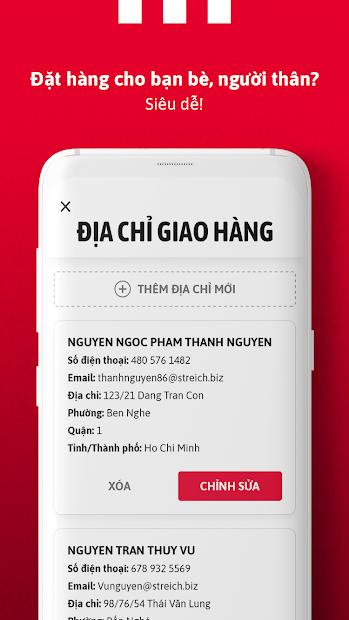 Screenshots KFC Vietnam - Đặt gà rán KFC tại nhà, nhiều ưu đãi khuyến mãi