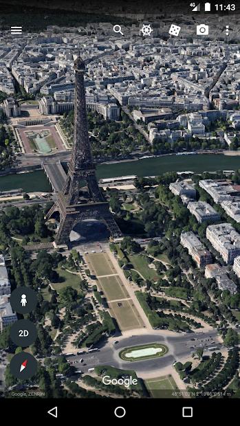Screenshots Google Earth - Mô phỏng trái đất: Bản đồ thế giới 3D
