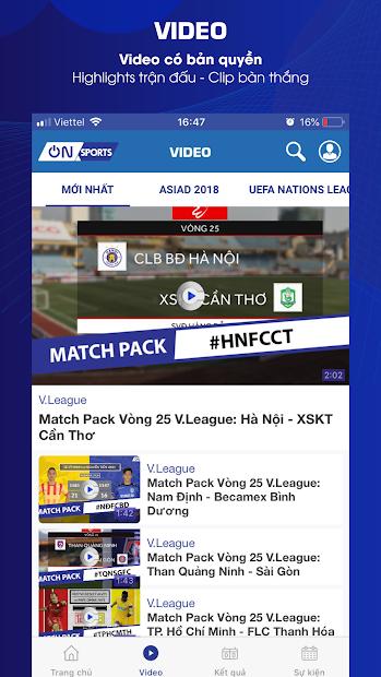 Screenshots On Sports: Ứng dụng cập nhật tin tức thể thao, tỷ số bóng đá trực tuyến