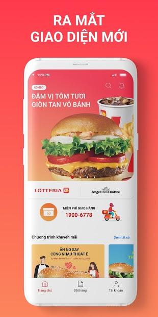 Screenshots Lotteria Delivery  - Ứng dụng đặt gà Rán lotteria tại nhà