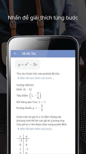 Screenshots Mathway: Ứng dụng giải toán đại số, phương trình, vẽ đồ thị