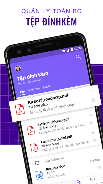 Screenshots Yahoo Mail - Luôn giữ tổ chức