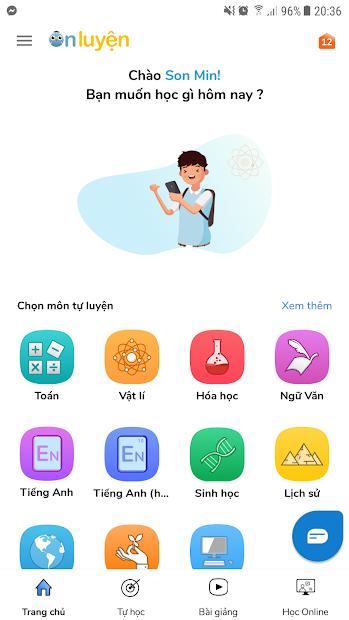 Screenshots App Onluyen.vn - Ứng dụng ôn luyện thi lớp 1-12