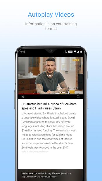 Screenshots Inshorts - Tổng hợp các tin tức mới nhất
