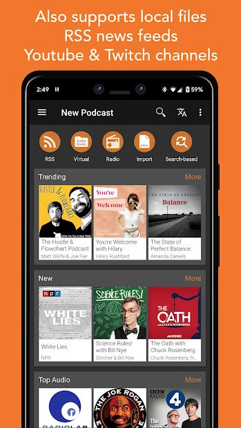 Screenshots Podcast Addict - Tìm hiểu các tin tức mới nhất