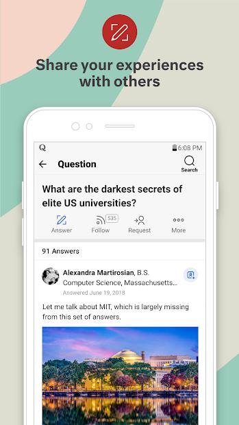 Screenshots Quora - Ứng dụng cộng đồng giao lưu, chia sẻ các thông tin mới nhất