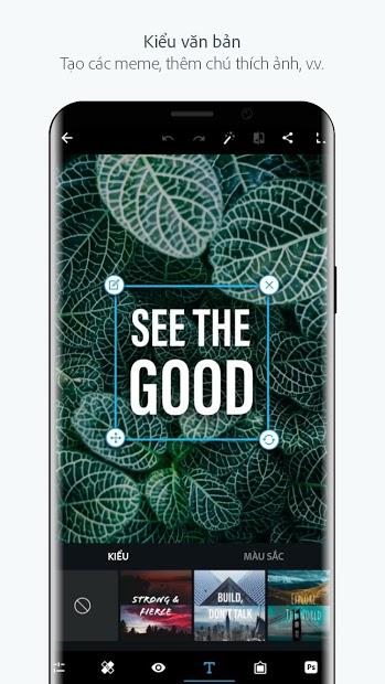 Screenshots Adobe Photoshop Express: Ứng dụng chỉnh sửa ảnh, bộ lọc màu phong phú