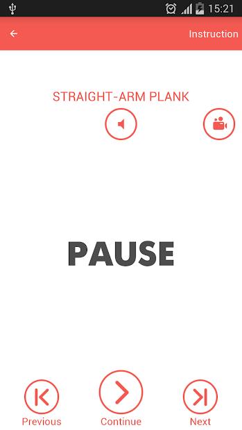 Screenshots Abs workout 7 minutes - App tập Gym, bài tập cơ bụng (Abs) tại nhà