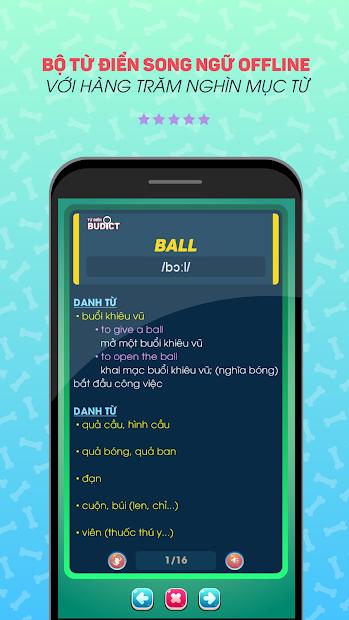 Screenshots Bucha học tiếng Anh - App học tiếng Anh giao tiếp, từ vựng, ngữ pháp