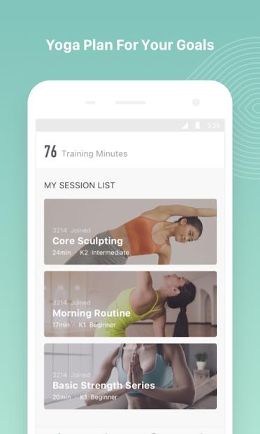 Screenshots Keep Yoga & Yoga Daily Fitness - Ứng dụng tập Yoga cơ bản tại nhà
