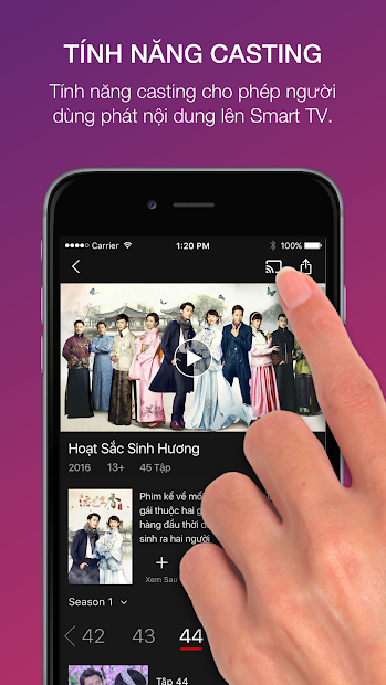 Screenshots 5Dmax: Ứng dụng xem phim trực tuyến HD có bản quyền từ Viettel Telecom