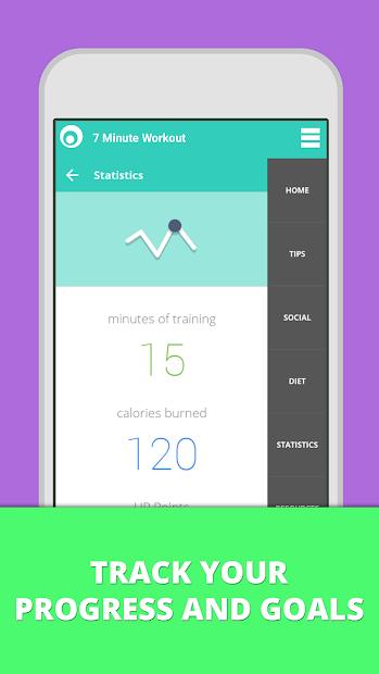 Screenshots 7 Minute Workout app - Ứng dụng tập thể dục giảm cân tại nhà hiệu quả