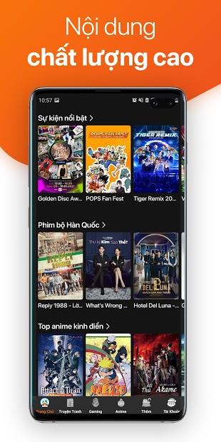 Screenshots POPS - Ứng dụng xem phim, nghe nhạc, đọc truyện tranh Anime miễn phí