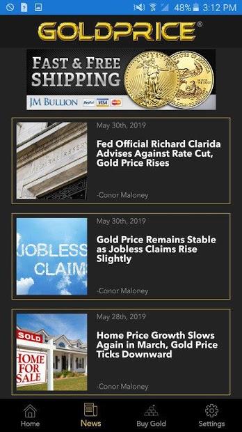 Screenshots Gold Price Live - Ứng dụng xem giá vàng SJC, 9999, 24k, 18k hôm nay