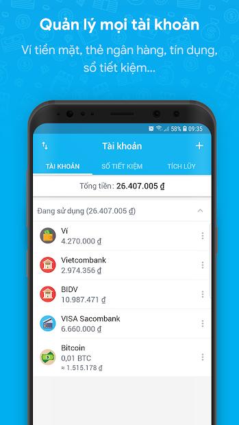 Screenshots MISA: Ứng dụng sổ thu chi, quản lý tài chính cá nhân
