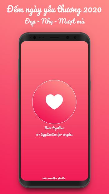 Screenshots Been Together: Ứng dụng đếm ngày yêu nhau dành cho cặp đôi