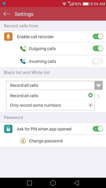 Screenshots Ghi âm cuộc gọi - Ứng dụng ghi âm cuộc gọi tự động