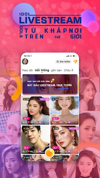 Screenshots Bunny Live - Live stream: ứng dụng live stream, xem video và nhắn tin