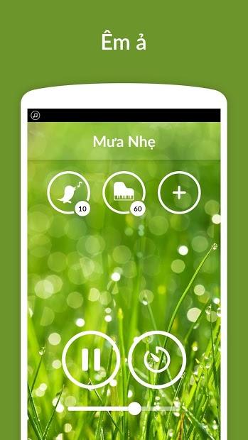 Screenshots Rain Sounds: ứng dụng nghe nhạc thư giãn dễ ngủ, âm thanh tiếng mưa